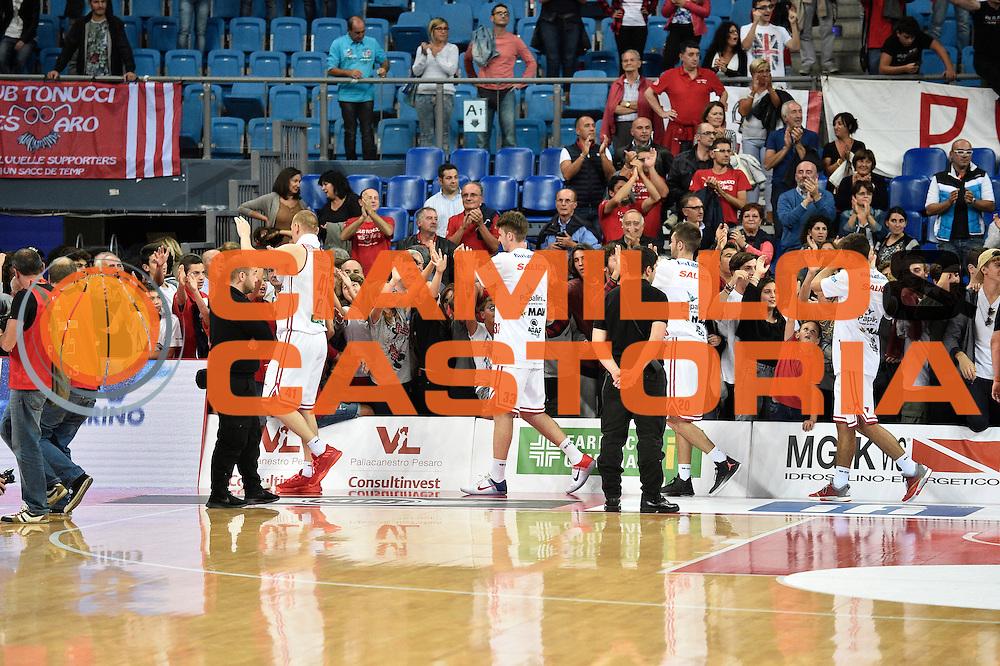 Consultinvest pesaro<br /> Consultinvest Pesaro - Germani Basket Brescia<br /> BASKET Serie A 2016 <br /> Pesaro 02/10/2016 <br /> FOTO CIAMILLO