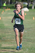 Nov 1, 2017; Long Beach, CA, USA; Zane Witter of Long Beach Poly wins the frosh-soph race in 15:56 during the Moore League cross country finals at Heartwell Park.