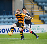 Alloa Athletic's Craig Malcolm holds off Dundee&rsquo;s Jesse Curran - Dundee under 20s v Alloa Athletic in the Irn Bru Cup Round 1 at Dens Park, Dundee - photograph by David Young <br /> <br />  - &copy; David Young - www.davidyoungphoto.co.uk - email: davidyoungphoto@gmail.com