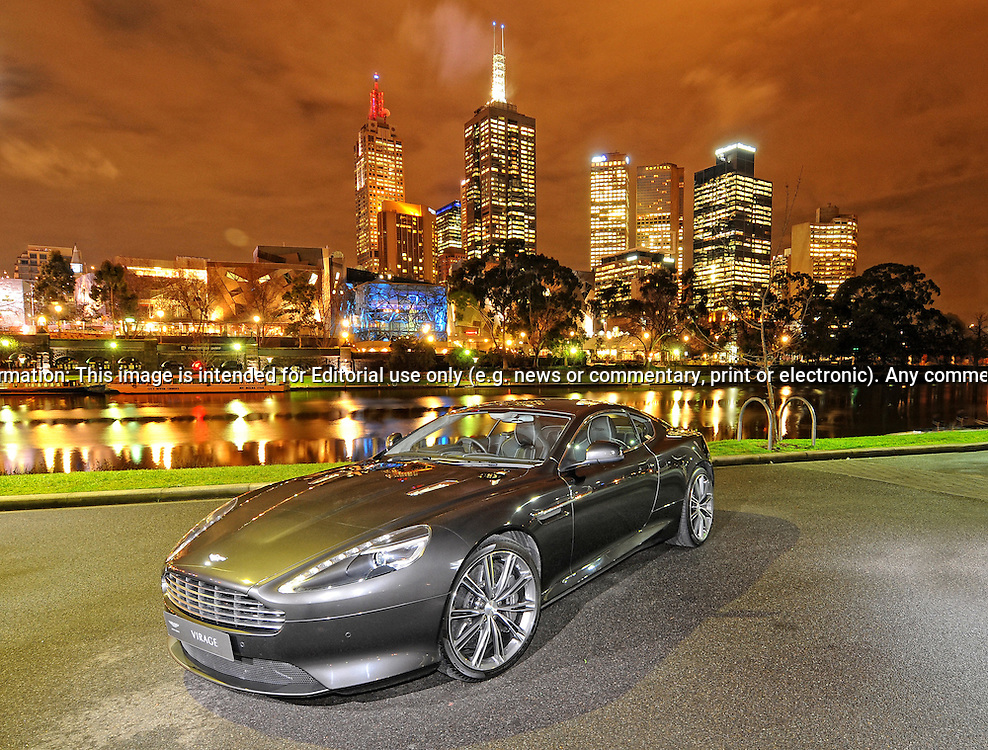 2011 Aston Martin Virage Coupe - Quantum Silver.Southbank, Melbourne.9th of August 2011.(C) Joel Strickland Photographics.Use information: This image is intended for Editorial use only (e.g. news or commentary, print or electronic). Any commercial or promotional use requires additional clearance.