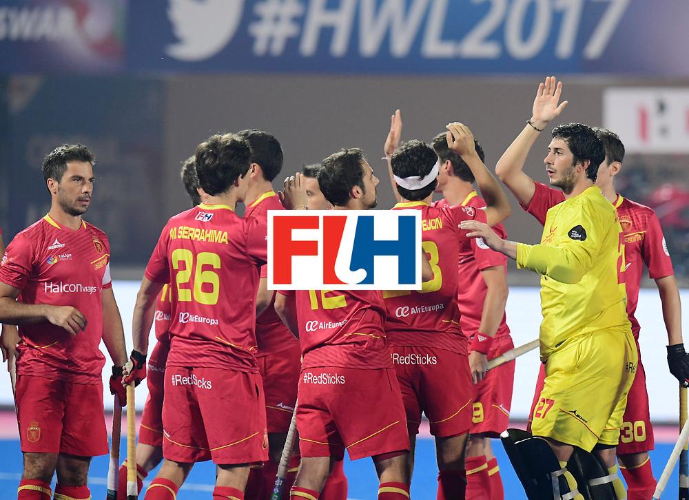Odisha Men's Hockey World League Final Bhubaneswar 2017<br /> Match id:11<br /> Argentina v Spain<br /> Foto: Line Up<br /> COPYRIGHT WORLDSPORTPICS FRANK UIJLENBROEK