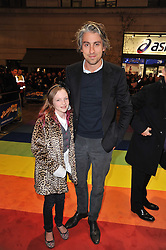 GEORGE LAMB and ? arrive at the press night of the new Andrew lloyd Webber  musical 'The Wizard of Oz' at The London Palladium, Argylle Street, London on 1st March 2011 followed by an aftershow party at One Marylebone, London NW1