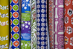 Asia, Japan, Honshu island, Kyoto, decorative Washi rice papers on display in store