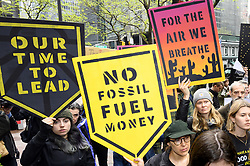 April 30, 2019 - New York, New York, U.S - Rally organized by Sunrise NYC in support of the Green New Deal outside of Senator Chuck Schumer's (D-NY) New York City office on Third Avenue in New York City on April 30, 2019 (Credit Image: © Michael Brochstein/ZUMA Wire)