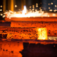 Steel production at Scunthorpe British Steel