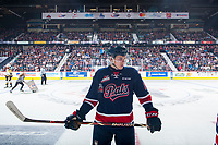 REGINA, SK - MAY 25: Logan Nijhoff #29 of Regina Pats stands on the ice against the Hamilton Bulldogs at the Brandt Centre on May 25, 2018 in Regina, Canada. (Photo by Marissa Baecker/CHL Images)