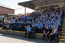 NEWTOWN, WALES - Sunday, May 6, 2018: RAF Cadets sit in the stand during the FAW Welsh Cup Final between Aberystwyth Town and Connahs Quay Nomads at Latham Park. (Pic by Paul Greenwood/Propaganda)