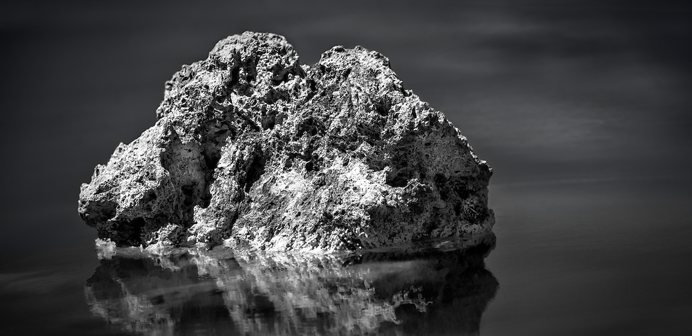 Close up of a Rock in Mono Lake, California.