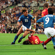 FRANCESCO TOTTI .ITALY.ITALY V BELGIUM (0-1) 13/06/00 BRUSSELS EURO 2000.PHOTO ROGER PARKER.