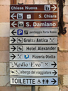 A sign in Assisi, Italy. (Sam Lucero photo)
