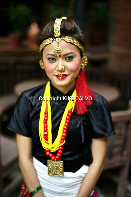 Young woman wearing Tamang traditional dress from Sindupalchok. Pictured: Sommaya Gurung.