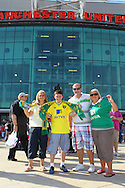 Picture by Paul Chesterton/Focus Images Ltd.  07904 640267.1/10/11.Norwich fans outside Old Trafford before the Barclays Premier League match at Old Trafford Stadium, Manchester.
