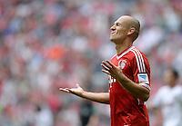 Fussball  1. Bundesliga  Saison 2013/2014  3. Spieltag FC Bayern Muenchen - 1. FC Nuernberg       24.08.2013 Arjen Robben (FC Bayern Muenchen) emotional