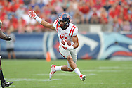 Ole Miss Rebels tight end Evan Engram (17) vs. Vanderbilt at L.P. Field in Nashville, Tenn. on Saturday, September 6, 2014. Ole Miss won 41-3.