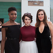 13.05.2016.           <br /> Chiamaka Ezeonu, Galway City, Ailish Allen, Athlone Town and Heather O'Connor, Kilkenny City pictured at the much anticipated Limerick School of Art & Design, LIT, (LSAD) Graduate Fashion Show on Thursday 12th May 2016. The show took place at the LSAD Gallery where 27 graduates from the largest fashion degree programme in Ireland showcased their creations. Ranked among the world's top 50 fashion colleges, Limerick School of Art and Design is continuing to mould future Irish designers.. Picture: Alan Place/Fusionshooters