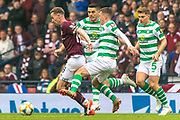 Steven MacLean of Hearts gets away from the chasing Celtic pack during the William Hill Scottish Cup Final match between Heart of Midlothian and Celtic at Hampden Park, Glasgow, United Kingdom on 25 May 2019.