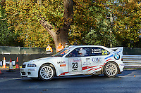 #23 David Davies / Rich Jones BMW Compact M3 116 Car Club GMC Concrete & DSR Motorsportduring Neil Howard Memorial Stage Rally, and opening round of the 2015 Motorsport News Rally Championship.  at Oulton Park, Little Budworth, Cheshire, United Kingdom. November 07 2015. World Copyright Peter Taylor. Copy of publication required for printed pictures.  Every used picture is fee-liable. http://archive.petertaylor-photographic.co.uk