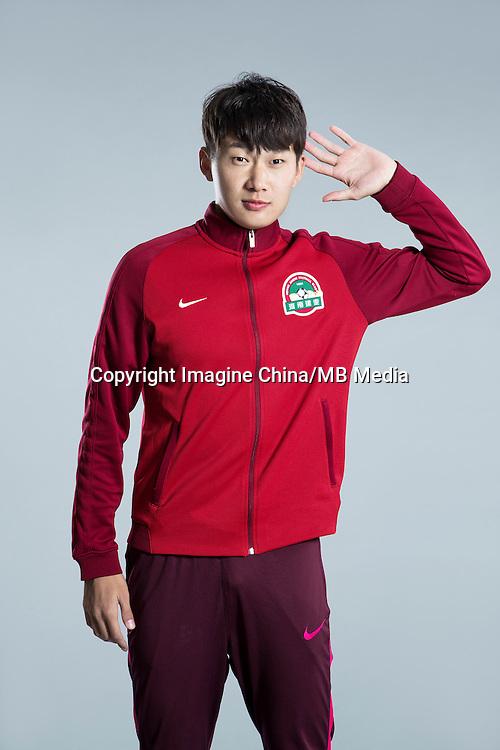 Portrait of Chinese soccer player Zhang Shuai of Henan Jianye F.C. for the 2017 Chinese Football Association Super League, in Zhengzhou city, central China's Henan province, 19 February 2017.
