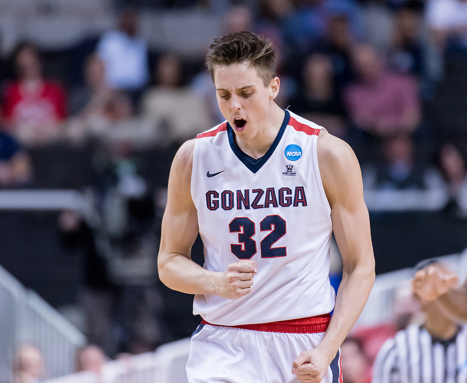 The Zags beat West Virginia in San Jose, California, to advance to the  Elite Eight. (Photo by Edward Bell)