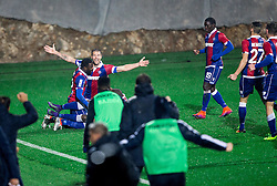 Marko Futacs of HNK Hajduk celebrates after scoring first goal for Hajduk during football match between HNK Rijeka and HNK Hajduk Split in Round #15 of 1st HNL League 2016/17, on November 5, 2016 in Rujevica stadium, Rijeka, Croatia. Photo by Vid Ponikvar / Sportida