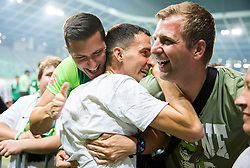 Branko Ilic of NK Olimpija celebrates with fans after winning during football match between NK Aluminij and NK Olimpija Ljubljana in the Final of Slovenian Football Cup 2017/18, on May 30, 2018 in SRC Stozice, Ljubljana, Slovenia. Photo by Vid Ponikvar / Sportida
