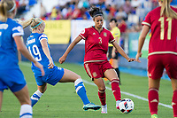 Finland's Adelina Engman and Spain's Leila Ouahabi during the match of  European Women's Championship 2017 at Leganes, between Spain and Finland. September 20, 2016. (ALTERPHOTOS/Rodrigo Jimenez)