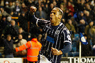 Picture by David Horn/Focus Images Ltd +44 7545 970036<br /> 28/01/2014<br /> DJ Campbell of Millwall celebrates scoring his first goal of the game during the Sky Bet Championship match at The Den, London.