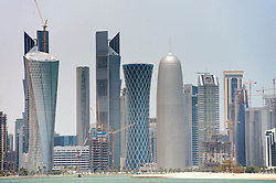 Skyline of city of Doha in Qatar