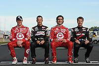 Scott Dixon, Helio Castroneves, Dario Franchitti, Will Power, Japan Indy 300, Twin Ring Motegi, Motegi, Tochigi Japan, 9/19//2010