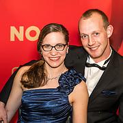 NLD/Amsterdam/20161221 - NOC*NSF Sportgala 2016, Lisette Theunissen en partner