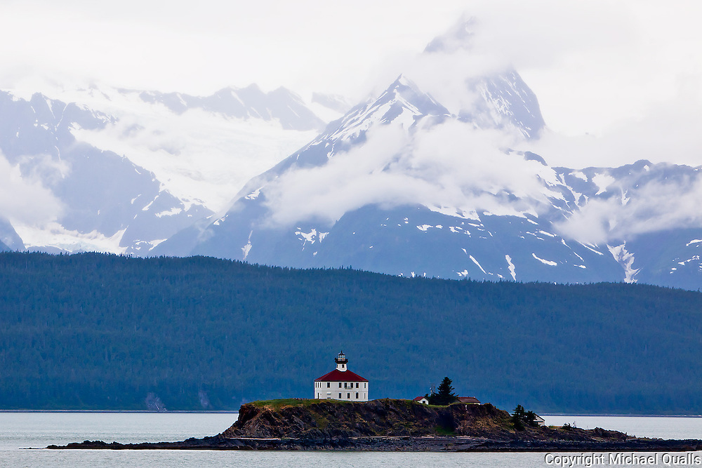 Eldred Rock Lighthouse in the Inside Passage.  On the way to Alaska.
