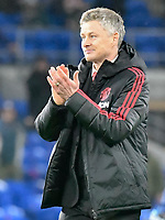 Football - 2018 / 2019 Premier League - Cardiff City vs. Manchester United<br /> <br /> Manchester Utd caretaker manager Ole Gunnar Solskjaer in his 1st game in charge celebrates victory, at Cardiff City Stadium.<br /> <br /> COLORSPORT/WINSTON BYNORTH