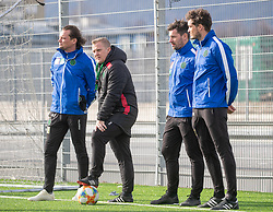 06.03.2019, Tivoli Stadion Tirol, Innsbruck, AUT, 1. FBL, FC Wacker Innsbruck, Training, im Bild v.l. CoTrainer Florian Schwarz, Trainer Thomas Grumser, Masseur Patrick Bernhaupt, Pysio Maximilan Schweiger // during a trainings session of the new head coach Thomas Grumser of the tipico-Bundesliga club FC Wacker Innsbruck at the Tivoli Stadion Tirol in Innsbruck, Austria on 2019/03/06. EXPA Pictures © 2019, PhotoCredit: EXPA/ Johann Groder