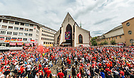 Liverpool fans in party mood in Basel city centre ahead of the UEFA Europa League Final against Sevilla.<br /> Picture by EXPA Pictures/Focus Images Ltd 07814482222<br /> 18/05/2016<br /> ***UK &amp; IRELAND ONLY***<br /> EXPA-FEI-160518-0013.JPG