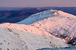 Mount Jefferson as seen from Mount Washington in New Hampshire's White Mountains. Winter.