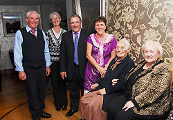 Pictured at the past pupils reunion of Rossduane N.S. Kilmeena that took place in the Clew Bay Hotel recently were Tony Quinn, Guen Harney, Ralph O' Malley, Geraldine Brogan Mary 'Larry' Keane, and Mary Dignam...Pic Conor McKeown