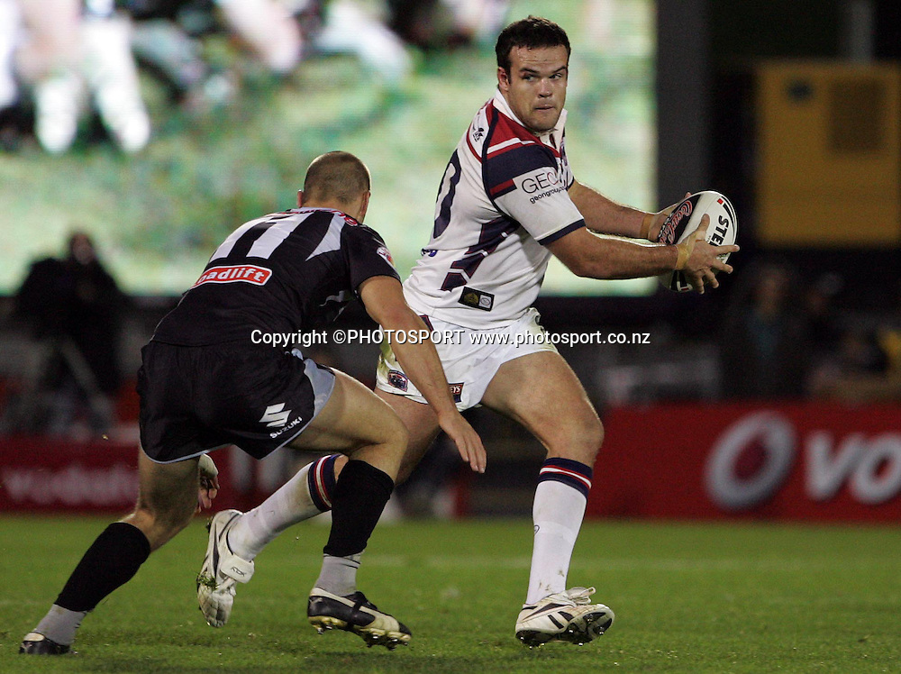 Roosters prop Nate Myles. NRL, rugby league, Vodafone Warriors v Roosters, Mt Smart Stadium, Auckland, Sunday 25 May 2008. Photo: Renee McKay/PHOTOSPORT