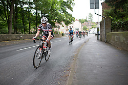 Rozanne Slik (NED) of Team Sunweb leads the chase on Stage 4 of the OVO Energy Women's Tour - a 123 km road race, starting and finishing in Chesterfield on June 10, 2017, in Derbyshire, United Kingdom. (Photo by Balint Hamvas/Velofocus.com)