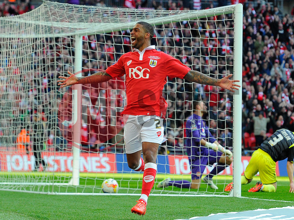 Bristol City's Mark Little celebrates his goal  - Photo mandatory by-line: Joe Meredith/JMP - Mobile: 07966 386802 - 22/03/2015 - SPORT - Football - London - Wembley Stadium - Bristol City v Walsall - Johnstone Paint Trophy Final