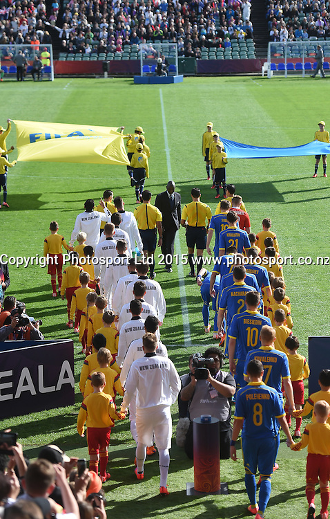 General view during the FIFA U20 World Cup match, New Zealand Junior All Whites v Ukraine. North Harbour Stadium, Auckland, New Zealand. Saturday 30 May 2015. Copyright Photo: Andrew Cornaga / www.photosport.co.nz