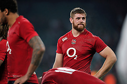 Dave Attwood of England looks on after the match - Photo mandatory by-line: Patrick Khachfe/JMP - Mobile: 07966 386802 22/11/2014 - SPORT - RUGBY UNION - London - Twickenham Stadium - England v Samoa - QBE Internationals