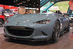 11 February 2016:  2016 Mazda MX-5 Speedster Concept.<br /> <br /> First staged in 1901, the Chicago Auto Show is the largest auto show in North America and has been held more times than any other auto exposition on the continent.  It has been  presented by the Chicago Automobile Trade Association (CATA) since 1935.  It is held at McCormick Place, Chicago Illinois<br /> #CAS16