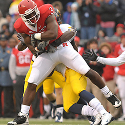 Dec 5, 2009; Piscataway, NJ, USA; Rutgers tight end Shamar Graves (3) catches the ball during first half NCAA Big East college football action between Rutgers and West Virginia at Rutgers Stadium.