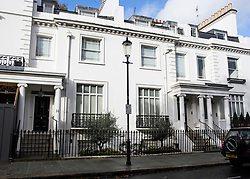 © Licensed to London News Pictures. 10/11/2018. London, UK. Two neighbouring properties in Knightsbridge, London, which belong to Zamira Hajiyeva, who was released on bail earlier this week at an appeal court hearing in London. Zamira Hajiyeva, 55, who spent £16 million over a decade at luxury department store Harrods in London, is the subject of the first two unexplained wealth orders (UWO) obtained by the UK National Crime Agency (NCA) . Her husband, the former state banker Jahangir Hajiyev, is serving a 15-year prison sentence for embezzlement. Photo credit: Ben Cawthra/LNP