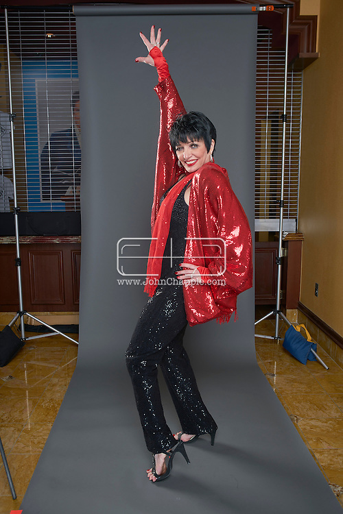 February 22, 2016. Las Vegas, Nevada.  The 22nd Reel Awards and Tribute Artist Convention in Las Vegas. Celebrity lookalikes from all over the world gathered at the Golden Nugget Hotel for the annual event. Pictured is Liza Minnelli lookalike, Suzanne Goulet.<br /> Copyright John Chapple / www.JohnChapple.com /