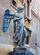 Raffaello da Montelupo's 'Arcangelo Michele' (St. Michael). Circa 1536-1544. Made for the top of the Castel Sant'Angelo, Rome, Italy.
