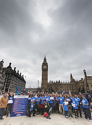 London, March 29th 2017. Open Britain protesters demonstrate outside Parliament as Prime Minister Theresa May triggers Article 50, beginning formal divorce proceedings as Britain leaves the European Union. The protesters demand that those in charge of the brexit negotiations are held to account:. PICTURED:  ©Paul Davey<br /> FOR LICENCING CONTACT: Paul Davey +44 (0) 7966 016 296 paul@pauldaveycreative.co.uk