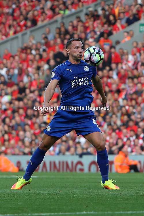 10.09.2016. Anfield, Liverpool, England. Premier League Football. Liverpool versus Leicester. Daniel Drinkwater of Leicester City in action.