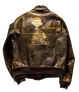 A-2 jacket that belonged to Lt. Col. E.J. North.