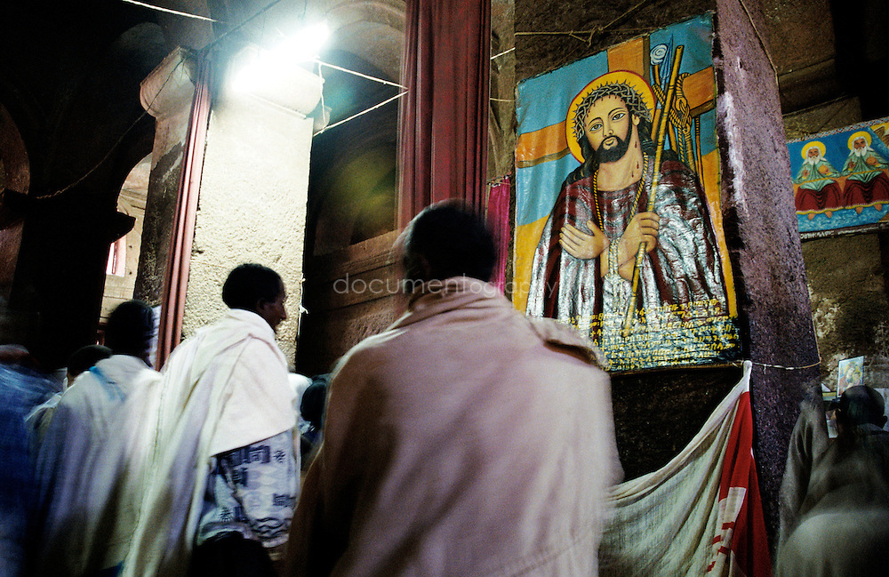 The thousands of pilgrims move through the churches admiring the paintings, the crosses and the structures. In the last few days before Genna the rich city pilgrims arrive, and there is frenzy everywhere as everyone tries to visit every church.